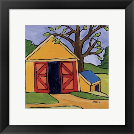 Framed Shed South Freeport Print
