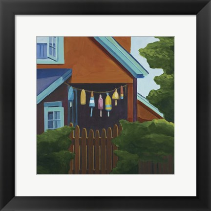 Framed Doctors House Monhegan Print