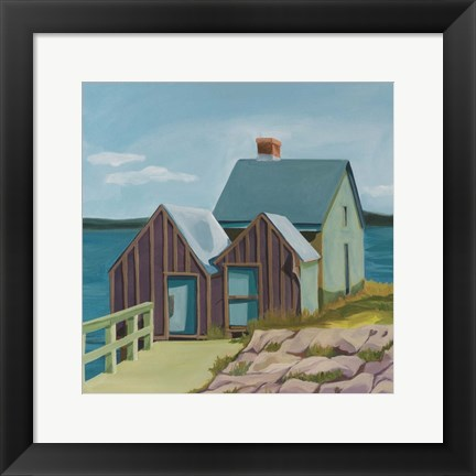 Framed Willard Beach Print