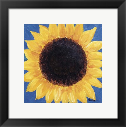 Framed Welcome Sunflower Print
