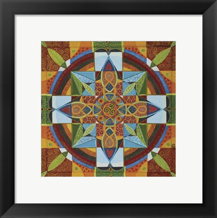 Framed Love Mandala Print
