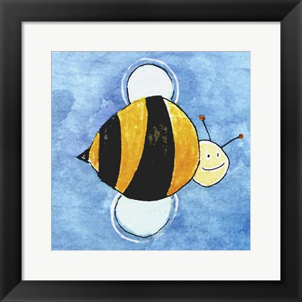 Framed Bumble Bee Print