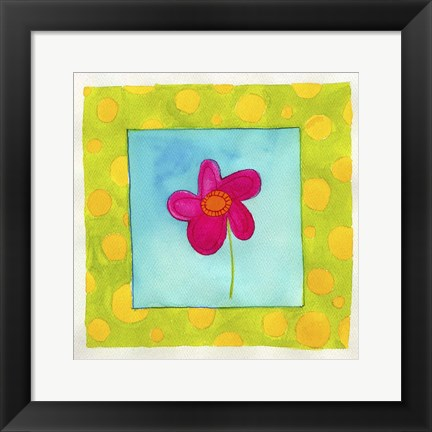 Framed Pink Flower Print