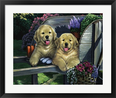 Framed Wagging Along For The Ride Print