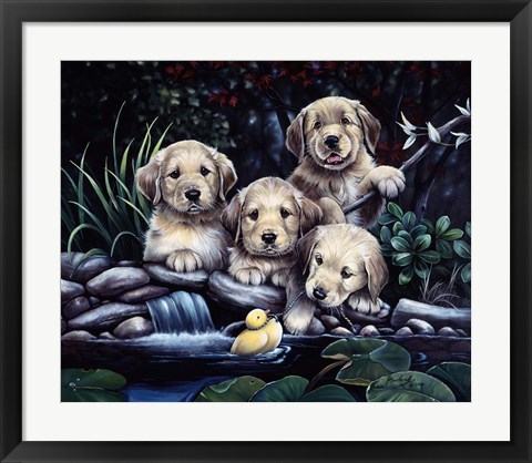 Framed Puppies To The Rescue Print