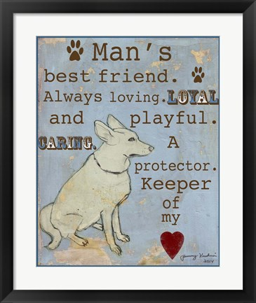 Framed Best Friend Print