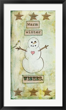 Framed Warm Winter Wishes Print
