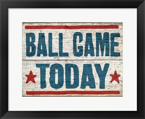Framed Ball Game Today Print