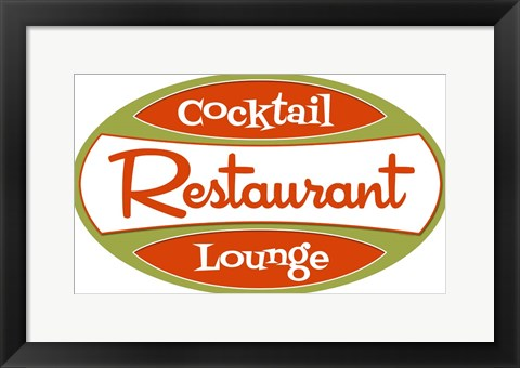 Framed Restaurant Cocktail Lounge Print