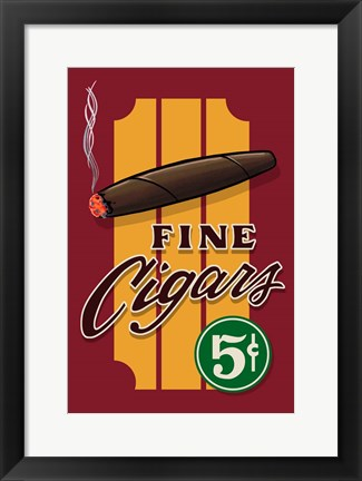 Framed Fine Cigars Print
