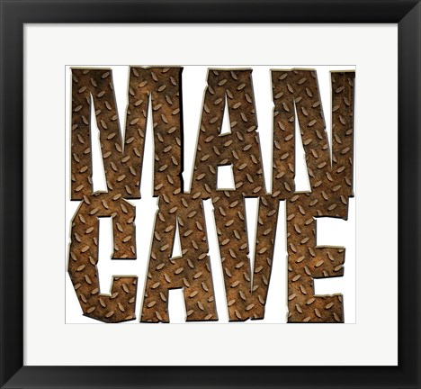 Framed Man Cave Cut Out Print