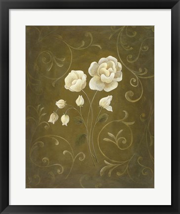 Framed White Flower and Buds II Print