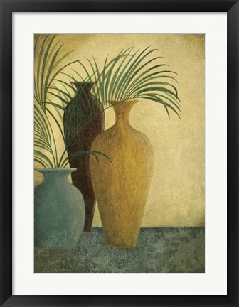 Framed Three Vases II Print