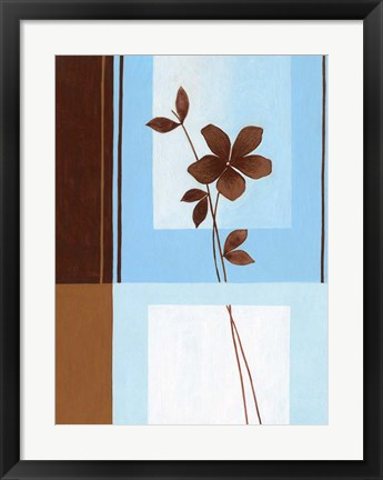Framed Brown Flower I Print
