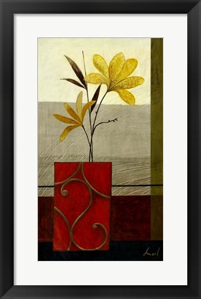 Framed Yellow Blooms II Print