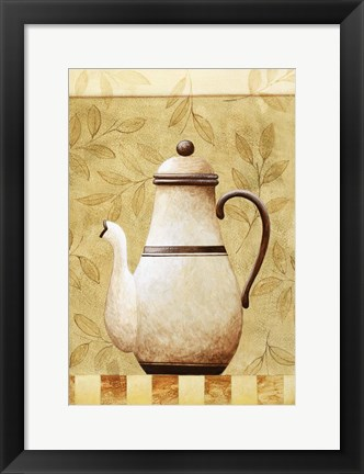 Framed Coffee Pot II Print