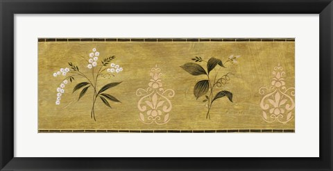 Framed White Flower on Gold Panel Print