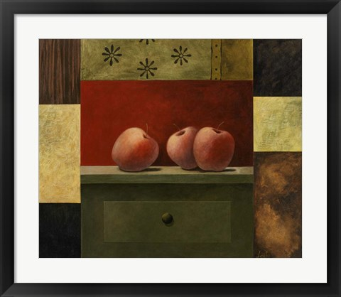Framed Apple Trio Print