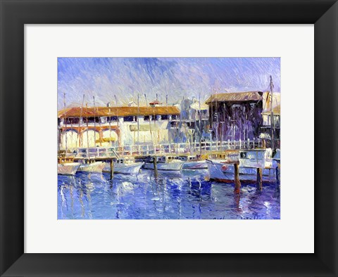 Framed Fisherman's Wharf Print