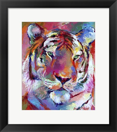 Framed Tiger 4 Print