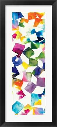 Framed Colorful Cubes II Print