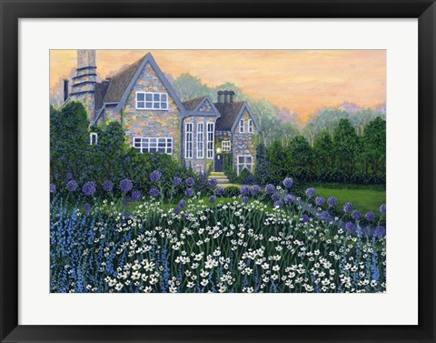 Framed English Cottage lg Print