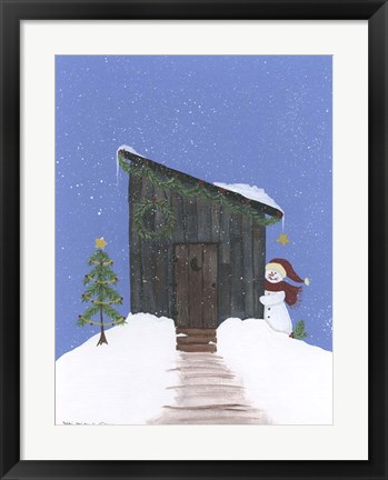 Framed Barnwood Outhouse Print