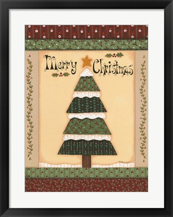 Framed Christmas Quilts IV Print