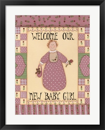 Framed Welcome Baby I Print