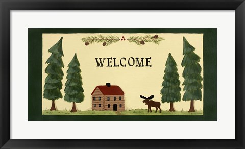 Framed Welcome - Cabin Print