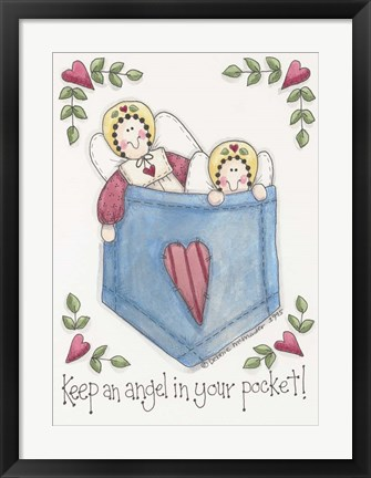 Framed Angel In Your Pocket Print