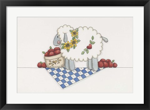 Framed Country Sheep Print
