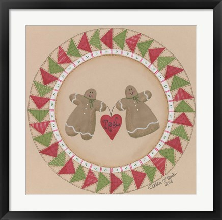 Framed Gingerbread Pair Print