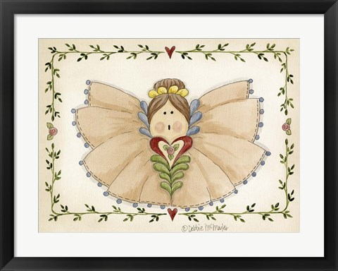 Framed Ruffled Angel Print