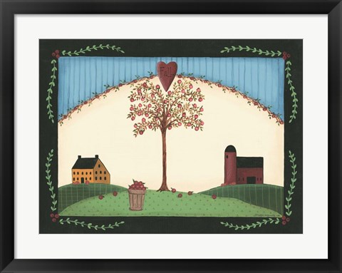 Framed Fall Tree Print