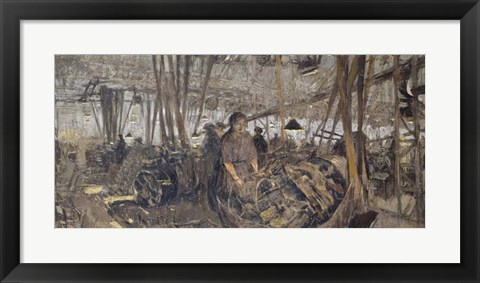 Framed Weapon factory at Lyon: the Turns, 1916-1917 Print