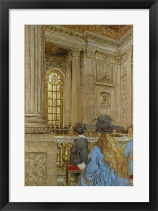 Framed Chapel at the Chateau of Versailles 1917-1919 Print