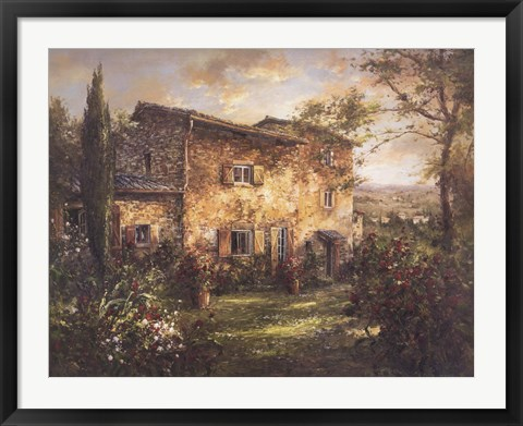 Framed Tuscan Farmhouse Print