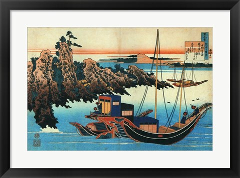 Framed Chinese Fishermen in their Boats Print