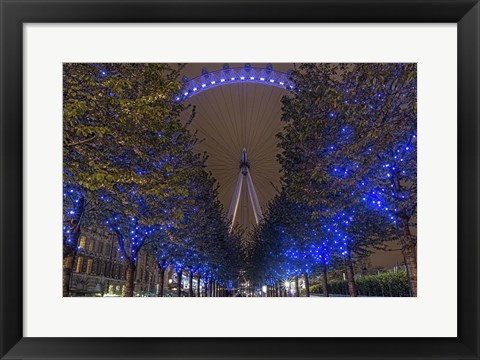 Framed Blue Lights Print
