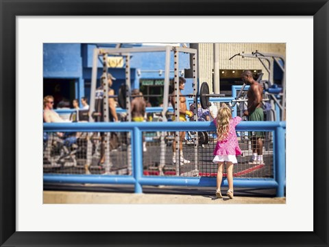 Framed Curiosity, Muscle Beach Print