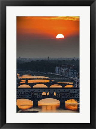 Framed Crimson sky Print
