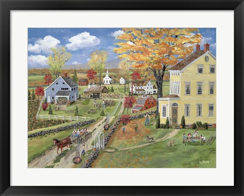 Framed Autumn Chores Print