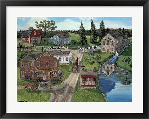 Framed Hubbles General Store Print