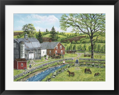 Framed Stoney Brook Farm Print
