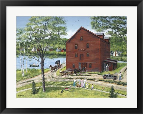 Framed Grist Mill (At West Stockbridge) Print