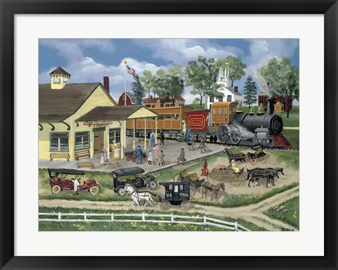 Framed Train Station Print