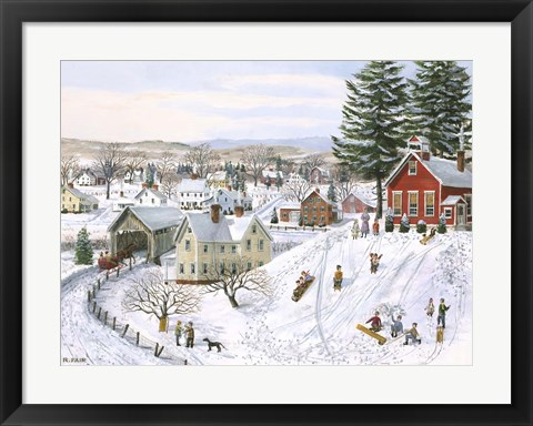 Framed Winter Recess Print