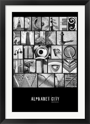 Framed Alphabet City Print