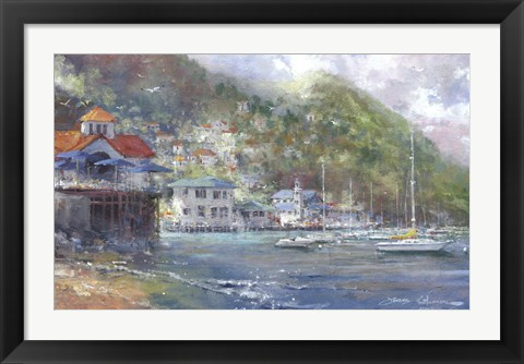 Framed Anchored in Avalon Print